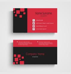 Modern sample business card template vector