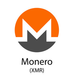 Monero cryptocurrency symbol vector