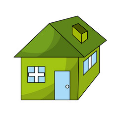 nice house with architecture design icon vector image