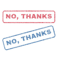 no thanks textile stamps vector image