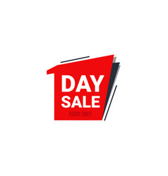 one day sale banner template vector image