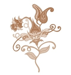 Paisley indian ornament vector image