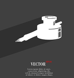 pen and ink icon symbol Flat modern web design vector image