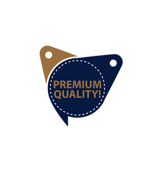 premium quality tag template isolated vector image