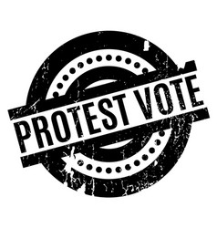 Protest vote rubber stamp vector