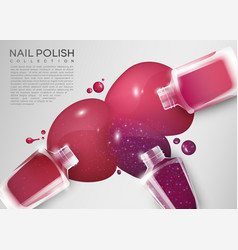 realistic cosmetic colorful poster vector image