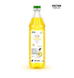 realistic extra virgin sunflower oil bottle vector image