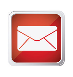 Red emblem close message envelope icon vector