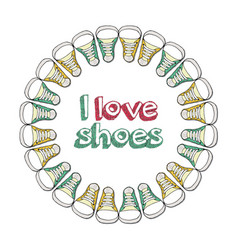 Retro of logo for a shoe store vector