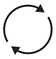 round circle arrow icon simple style vector image