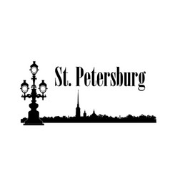 saint-petersburg city russia st peter paul vector image