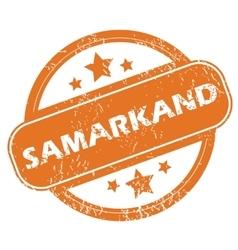 Samarkand round stamp vector