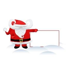 Santa Claus and a banner vector image