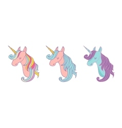 Set of magic unicons - cute hand drawn icons vector