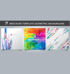 set template geometric covers design vector image