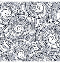 Spiral decorative doodles pattern vector