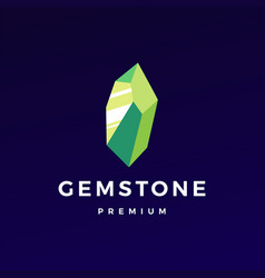 Stone gem gemstone logo icon vector