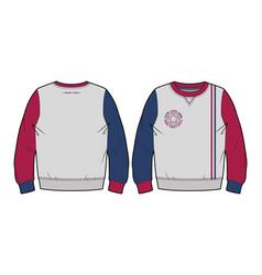 Sweatshirt with contrasting details vector