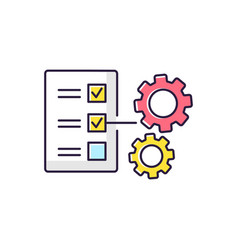 Technical task rgb color icon vector