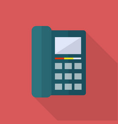 telephone icon set of great flat icons with vector image