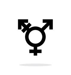 Transgender icon on white background vector