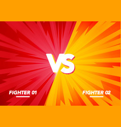 versus screen fight background yellow vs red vector image