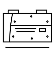 Welder machine equipment icon outline style vector