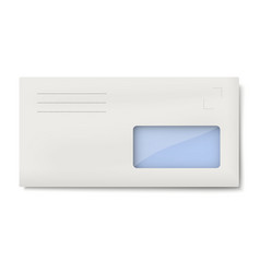 White DL envelope with window for address vector image