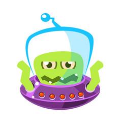 wrathful emotional allien cute cartoon monster vector image