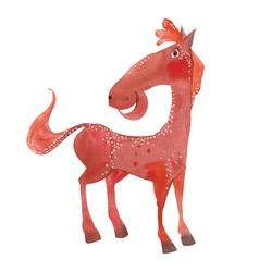 funny cartoon horse vector image