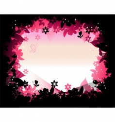 nature frame silhouette vector image