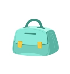 Small blue female purse item from baggage bag vector