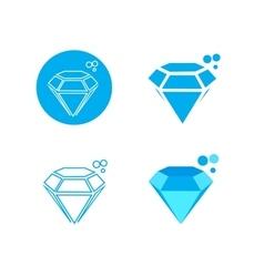 Blue diamong logo icon vector image vector image