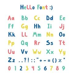 Hello font vector image vector image
