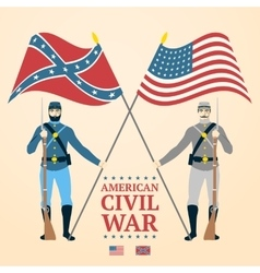 American Civil War - southern and vector image