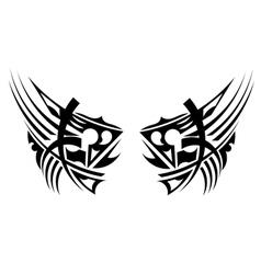 Black tribal element vector image vector image