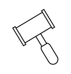 hammer law icon vector image