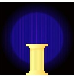 Yellow Marble Greek Column vector image vector image
