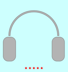 headphone it is icon vector image vector image