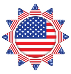 sun made of United States flag vector image vector image