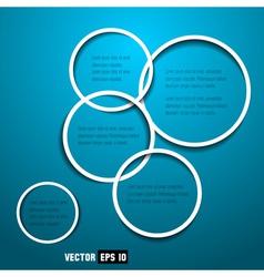web design circles vector image vector image
