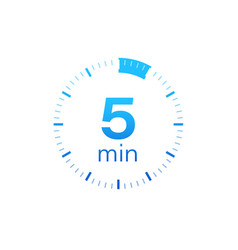 5 minutes stopwatch icon stopwatch vector
