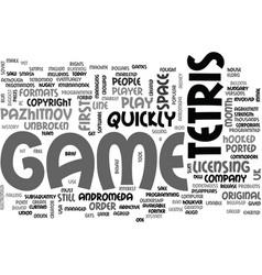 A brief history of tetris text word cloud concept vector