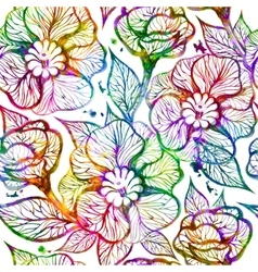 Abstract bright floral seamless pattern vector