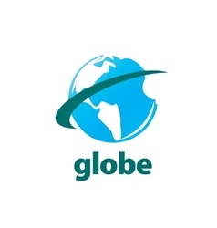abstract logo Globe vector image