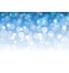 abstract white bokeh on blue background vector image