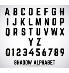Alphabet shadow font vector