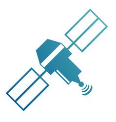 Artificial earth satellite vector