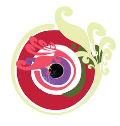 artistic greek evil eye in multipule colors vector image