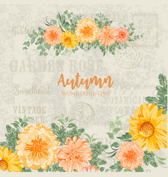 Awesome blooming flowers vector